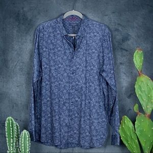 🆕Men's Ted Baker Marias Double Sided Shirt Sz XL